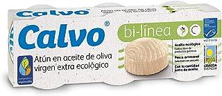 Calvo Atún Aceite de Oliva Virgen Extra Ecológico - 5 Paquete de 3 Latas