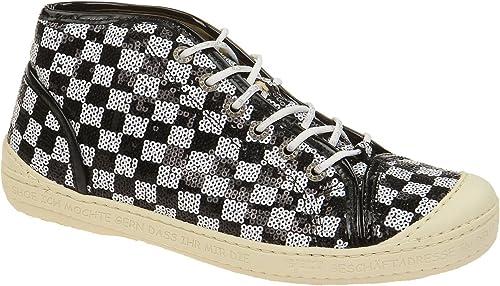 Eject  16223 2.003 noir-blanc, Chaussures à lacets et coupe classique femme