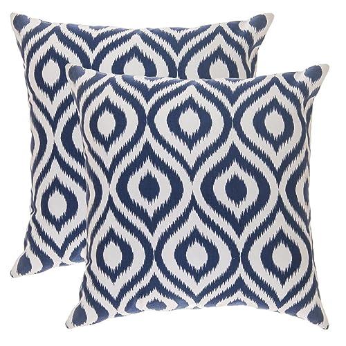 Blue And White Cushions Amazoncouk