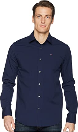 Tommy Jeans - Stretch Long Sleeve Button Down Shirt