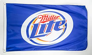 N Cents Miller Lite Beer 3x5 Foot Polyester Flag - Vivid Color and Double Stitched - Beverage Banner with Brass Grommets 3 X 5 FT
