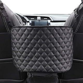 Car Seat Storage Organizer and Handbag Holder, Upgraded Leather Handbag Holder for Purse Storage Phone Documents Pocket