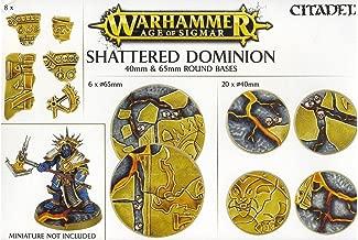 Games Workshop Warhammer Age of Sigmar Shattered Dominion 40mm & 65mm Round Bases - Citadel