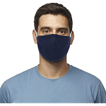 The Knitwear Lab 3D Comfort Reusable Face Mask with Filter Pocket and 8 Replaceable Filters Navy
