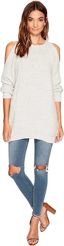 Bishop + Young Cold Shoulder Tunic Sweater