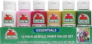 Apple Barrel 12 Essential Colors Matte Finish Craft Acrylic Paint