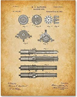 Gatling Machine Gun - 11x14 Unframed Patent Print - Makes a Great Gift Under $15 for Gun and Civil War Enthusiasts