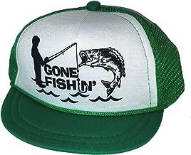 Gone Fishin Fishing Baby Infant Mesh Trucker Hat Cap Newborn Green Snapback
