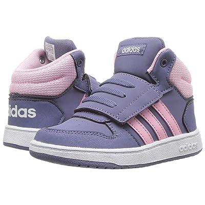 adidas Kids Hoops Mid 2.0 (Infant/Toddler) (Raw Indigo/True Pink/Footwear White) Kid