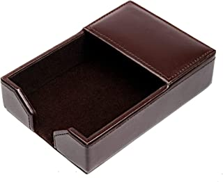 "Dacasso Dark Brown Bonded Leather 4"" x 6"" Memo Holder"