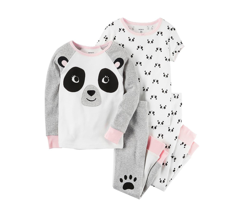 New Carter/'s Girls Panda Pajama Set Snug fit Shorts Yellow many sizes