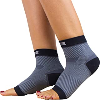 Ultimate Plantar Fasciitis Compression Sleeves (Pair) - Relieve Plantar Fasciitis Pain, Arch Support - Lightweight Brace, Foot Sleeve, Open Toe