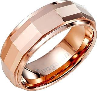 URBAN JEWELRY Stylish Solid Tungsten Matrix Bronze Metal Ring Wedding Engagement 8 mm Band for Men
