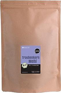 Wohltuer Bio Traubenkernmehl - aus französischen Traubenkernen | Traubenkern Pulver Fein | Rohkost mit 4% natürlichem OPC Anteil -1000g