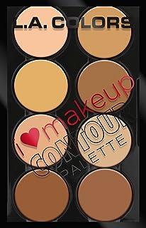 L.A. Colours I Heart Paleta Contour Makeup، Light to Medium، 1.04 اونس