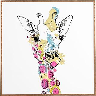 "Deny Designs Casey Rogers, Giraffe Color, Framed Wall Art, Large, 30"" x 30"""