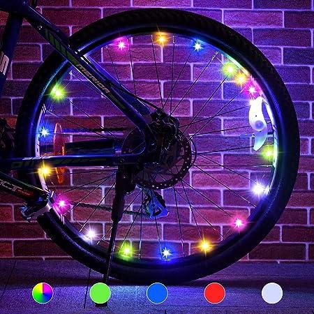 Rechargeable Bike Wheel Light Kids Bicycle Spoke Light Safety Hub Accessory ☆DFN