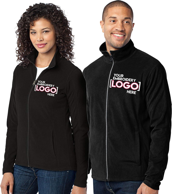 Custom Embroidered Lightweight Jacket for Women & Men - Add Your Logo - Embroidery Zip Up Fleece Outerwear