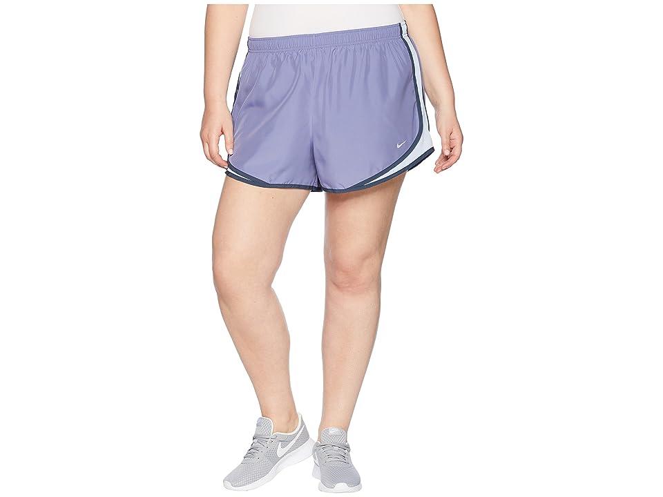 Nike Dry Tempo 3 Running Short (Size 1X-3X) (Pulse Slate/Royal Tint/Wolf Grey) Women