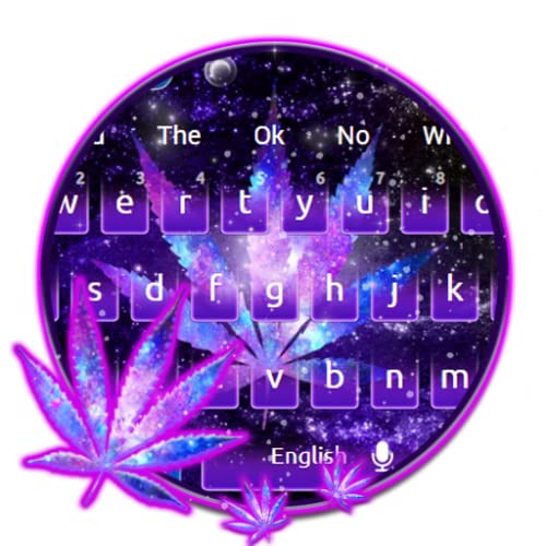 Blue Galaxy Weed Keyboard Theme