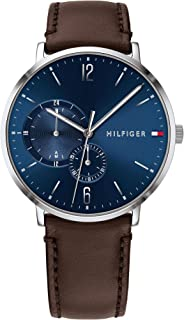 Tommy Hilfiger Brooklyn Men's Blue Dial Leather Band Watch - 1791508