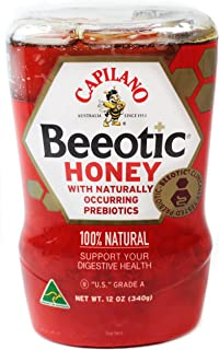 Capilano Beeotic Honey with Naturally Occurring Prebiotics, 12 Oz (340 Gram) Squeezable Bottle