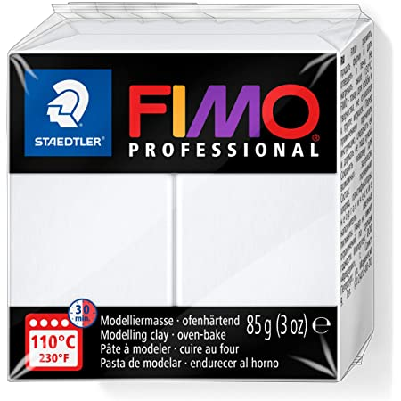 Staedtler - Fimo Professional - Pain Pâte à Modeler 85 g Blanc
