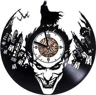 JOKER - BATMAN - Comics - Movie - Handmade Vinyl Record Clock - Best Gift - Kovides Vinyl Wall Clock - Home Décor - Silent Mechanism- Handmade Unique Original Gift - Art Design - Customize your clock
