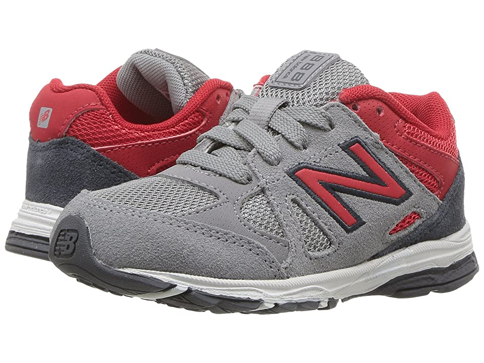 New Balance Kids KJ888v1 (Infant/Toddler) (Grey/Red) Boys Shoes