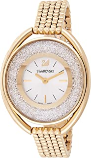 Swarovski Crystalline Women's Silver Dial Gold-Tone Stainless Steel Watch - 5200339