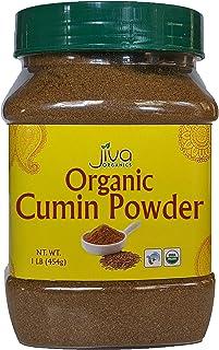 Jiva Organics Organic Ground Cumin Powder 1 Pound Jar - 100% Pure & Non-GMO, Cumin Seed Powder
