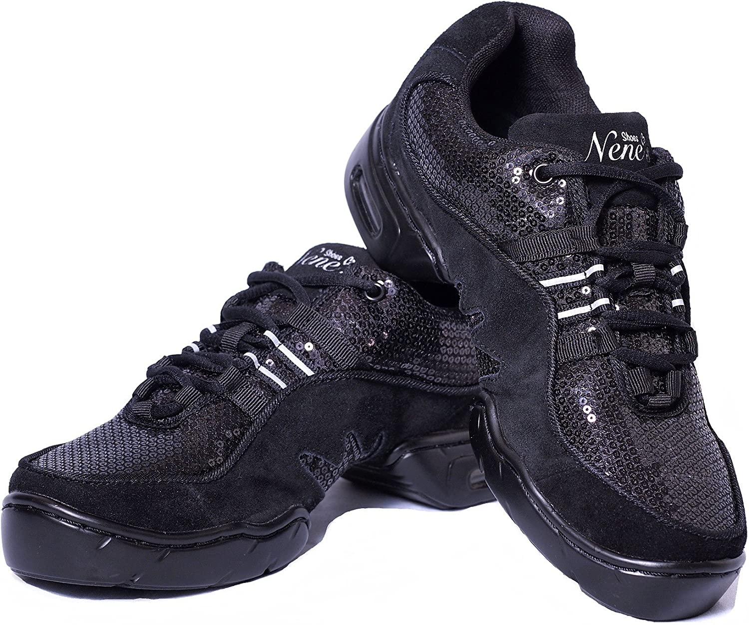 fd461ed2f Nene's Collection Best Dance Fitness shoes Sparkly Sneakers Women's Aerobic  Dance or Group Fitness Activities