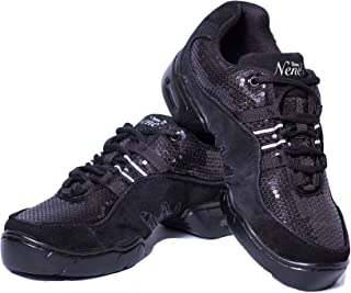 Nene's Collection Best Dance Fitness Shoes Sparkly Sneakers - Women's Aerobic Dance or Group Fitness Activities