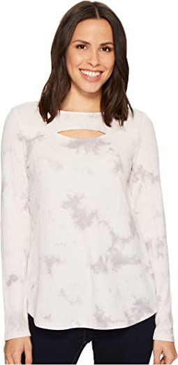 Ivanka Trump Long Sleeve Knit Cut Out Tee