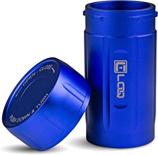 Canniloq – 120cc Sapphire Blue - Aircraft Grade Aluminum Odor Smell Proof Container and Airtight Locking Stash Jar for Herbs, Coffee, Spices, Tea and Other Dry Goods