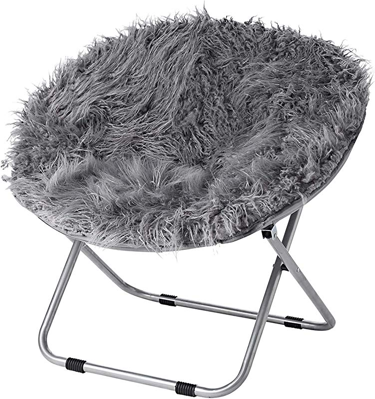 Fur Moon Chair Dark Gray