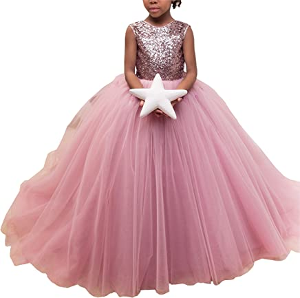 93c499c7ad Big Bow Ball Gowns Girls Pageant Dresses Cupcake Hand Made Flowers V  Backless Flower Girl Dress