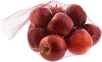 Royal Red Plastic Mesh Produce and Seafood Bag, 24 Inch, Package of 250