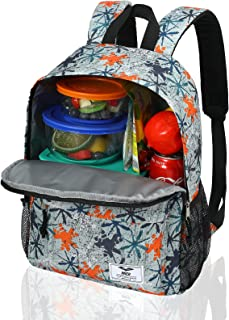 MIER Insulated Backpack Cooler Small Lunch Backpack Leakproof Lunch Bag for Women Teens to Work, School, Picnics, 15 L