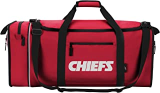"KANSAS CITY CHIEFS ~ EXPANDABLE /""STEAL/"" DUFFEL BAG ~ GYM BAG~ NFL ~ by NORTHWEST"