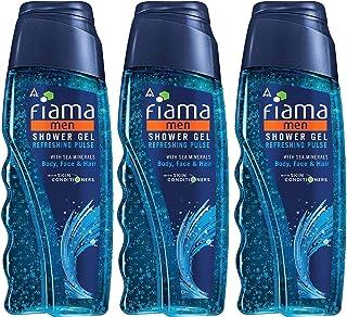 Fiama Men Shower Gel Refreshing Pulse bodywash, 250ml (Combo pack of 3)