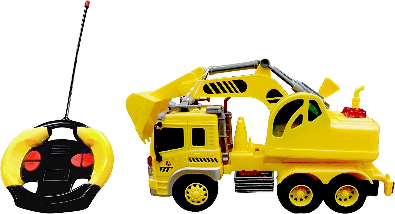 Playtek  PT1912 Light Up 1  16 Scale 4 Ch R C Excavator Remote Control Car