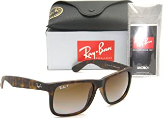 Authentic Ray-Ban Justin RB 4165 865/T5 55mm Rubber Havana/Brown Gradient Polarized
