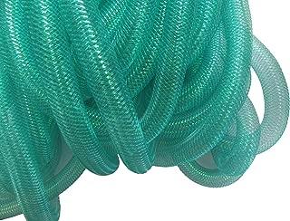 YYCRAF 10 Yards Solid Mesh Tube Deco Flex for Wreaths Cyberlox CRIN Crafts 16mm 5/8-Inch (Teal)