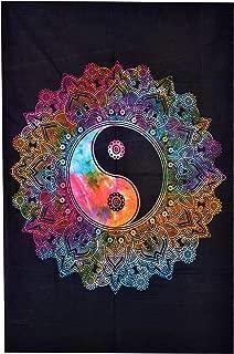 ANJANIYA Yinyang Room Dorm Decor Mandala Bohemian Hippie Tie Dye Small Tapestry Poster 40