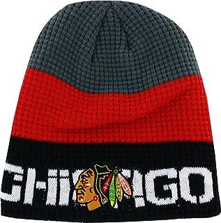 Reebok Chicago Blackhawks Boys 8-20 Gray/Black Center Ice Uncuffed Knit Beanie