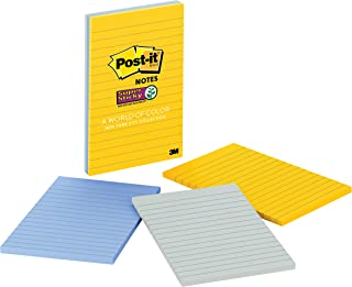Post-it Super Sticky Notes, 2x Sticking Power, 4 in x 6 in, New York (660-3SSNY)
