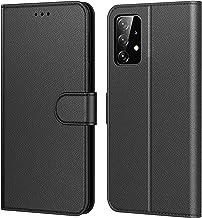 Tenphone Coque pour Samsung Galaxy A52, Etui Protection Housse Premium en Cuir PU,Pochette Fermeture Magnétique,Flip Case Compatible avec (Samsung A52 4G / 5G, Book Noir)