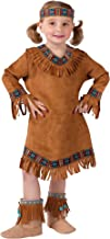 Fun World Costumes Baby Girl's Native American Toddler Girl Costume, Brown, Large(3T-4T)
