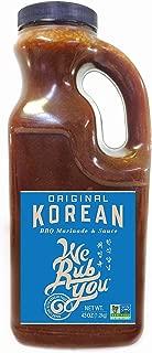 We Rub You Original Korean BBQ Hot Bulgogi Sauce & Marinade 43 oz. jug (Pack of 2)